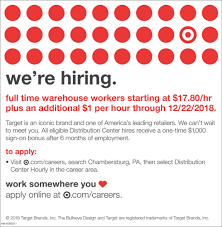 Target Careers Full Time Warehouse Workers Target Hagerstown Md