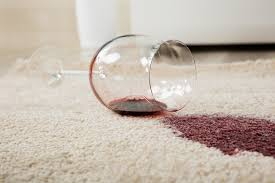 to remove wine sns from carpet after