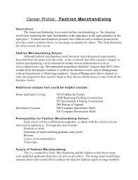 Fashion Merchandising Resume Examples Fashion Merchandising Resume Sample Free Resume Templates 2
