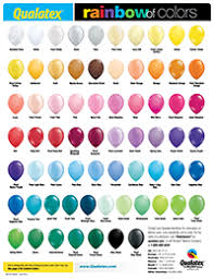 Qualatex Balloons Color Chart Qualatex Range Of Colours Pastel Balloons Qualatex