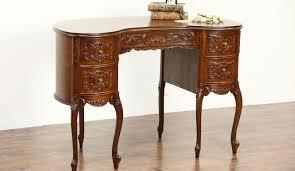 full size of desk sold kidney shape vintage writing desk carved walnut desks with drawers