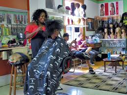 to enlarge mistre newton gets her hair done at burlington s diversity hair salon matthew thorsen