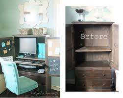 colored corner desk armoire. How To Turn A Regular Armoire Into Computer Cabinet! #DIY Colored Corner Desk S