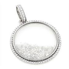 custom made diamond shaker pendant 8 7ct circle jewelry white image