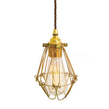 industrial cage lighting. Picture Of Praia Gold Industrial Cage Pendant Light Lighting