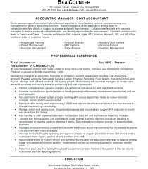 Junior Accountant Resume Sample Staff Accountant Experienced Example