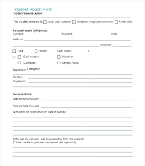 Incident Investigation Form Template Definition Vehicle