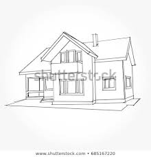 Modern home architecture sketches House Model Sketch Of Modern House Architecture drawing Free Hand Shutterstock Sketch Modern House Architecture Drawing Free Stock Vector royalty