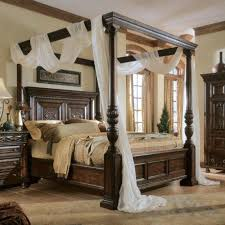 King Size Canopy Bed Frame King Size Canopy Bed With White Curtains ...