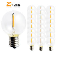 Led String Lights Replacement Bulbs Us 23 34 34 Off 25pcs G40 1w Led String Lights Replacement Bulb E12 220v 110v Warm White 2700k Led Lamps Replace G40 5w 7w Incandescent Bulbs In Led