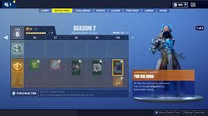 Level Chart Fortnite Season 5 Fortnite Season 7 Battle Pass Rewards Fortnite Wiki Guide