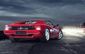 Wallpaper Light Ferrari Classic Night Testarossa 512tr Damian Exposure Images For Desktop Section Ferrari Download