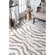 nuLOOM New Zealand Faux/ Silk Zebra Rug (7'6 x 9'6) - Free Shipping Today -  Overstock.com - 12952289