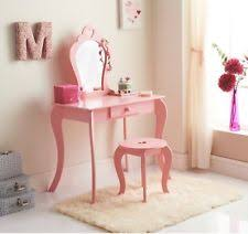 amelie white wash shabby chic country. New Children Wooden Pink Amelia Vanity Set/ Dressing Table With Mirror \u0026  Stool Amelie White Wash Shabby Chic Country