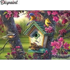 "<b>Dispaint Full Square/Round Drill</b> 5D DIY Diamond Painting ""Birds ..."