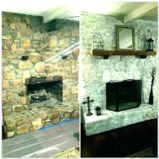 cost to reface fireplace cost to reface brick fireplace with stone veneer