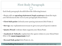 engu writing a literary essay structure almost all essays have first body paragraph each body paragraph should follow the following format begin an opening