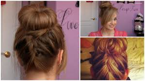 Sock Bun Hair Style sock bun with upsidedown french braid tutorial 5 min updo youtube 6055 by wearticles.com