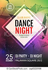 Art Event Flyer Night Dance Party Music Night Poster Template Electro Style Concert Disco Club Party Event Flyer Invitation