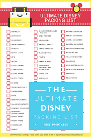 Disney Packing Checklist Magdalene Project Org