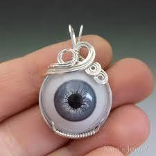 slate blue glass eye eyeball sterling