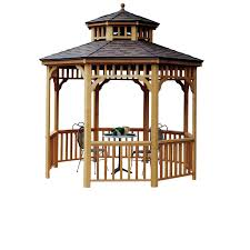 seaside round gazebo ft heartland industries 10 ft seaside round gazebo shown two tier roof