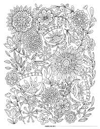 Coloring Pages Large Coloring Pages To Print Free Adult Flowers 57