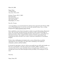 Cover Letter Samples For Nurses Cover Letter Example
