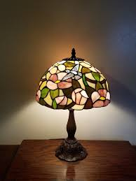 tiffany style stained glass table lamp hummingbirds 1 of 9 see more