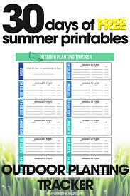 Garden Tracker Outdoor Planting Tracker Free Printable To Help Organize