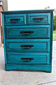 distressing old furniture. Bondi Blue Vintage Chest/ Bedroom Furniture/ Black Drawer Pulls/ TV Stand/ Storage/ Distressed Distressing Old Furniture