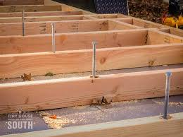 Small Picture Tiny House Subfloor Construction Part II Flashing