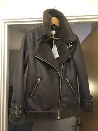 brand new warehouse faux leather oversized biker coat size 8