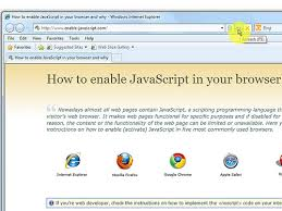 how to enable javascript how to enable javascript on major browsers