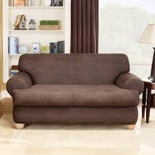 stretch leather t cushion loveseat slipcover