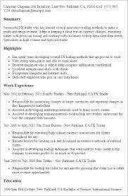Resume Templates: Fx Trader