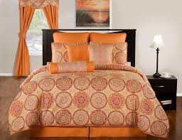 orange comforter set queen the 25 best brown bed sets ideas on purple black 19