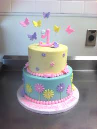Best Cake Ideas 1st Birthday Cake With Butterflies Flowers Main