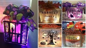 creative fall glass block craft ideas