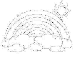 Fruit Loop Rainbow Printable Pattern Template Unique Cloud Ideas On