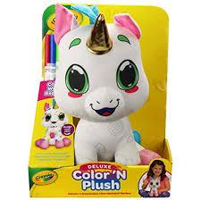 Amazoncom Crayola 12 Deluxe Color N Plush Unicorn Draw Wash