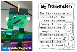 my frankenstein a craftivity a cupcake for the teacher my frankenstein a craftivity