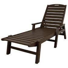 brown plastic outdoor chaise