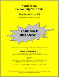 Neighborhood Garage Sale Flyer Sinma Carpentersdaughter Co