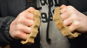 Wooden Knuckles Making Wooden Knuckle Dusters Dont Try At Home Youtube