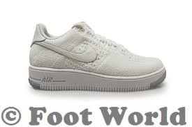 womens nike air force 1 white. Womens Nike W Air Force 1 Flyknit Low - 820256 101 White Trainers A