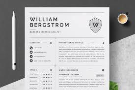 Resume Template 4 Page Cv Template Resume Templates Creative