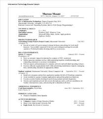 Free Sample Resumes Cool 48 IT Resume Templates PDF DOC Free Premium Templates Sample Resume