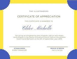 commendation letter sample customize attendance certificate templates online