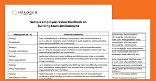 performance review comments employee review samples artresume sample